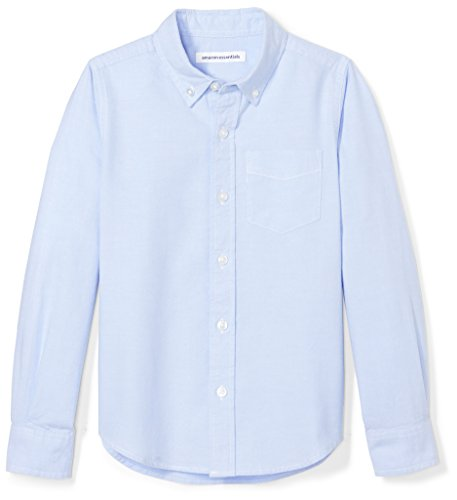 - Amazon Essentials Big Boys' Long-Sleeve Uniform Oxford Shirt, Blue, L (10)