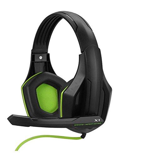Goldenchildhood 3.5mm Ovann X1game Gaming Headphone Headset Earphone Multimedia Stereo Headband with Microphone (black and green)
