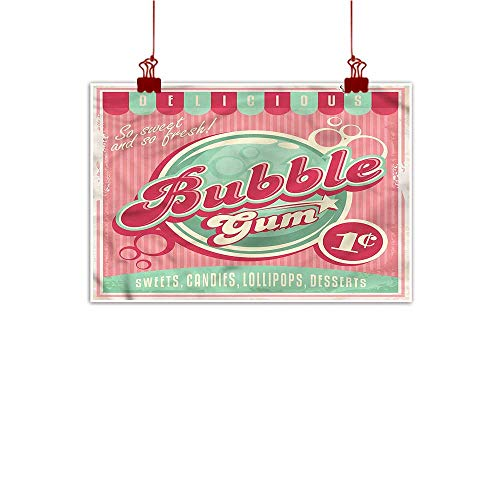 Fabric Cloth Rolled 1950s,Sweet Bubble Gum Lollipop 48