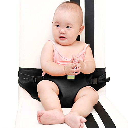 KIKIGOAL Portable Washable Baby Travel High Chair Booster Safety Seat Strap Harness Belt for Baby Feeding (black) (High Seat Chair Belt)