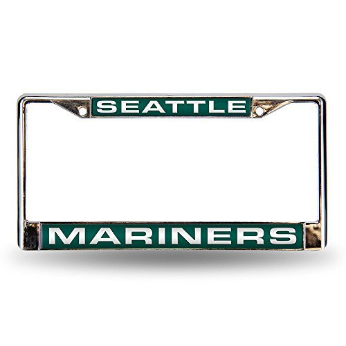 MLB Seattle Mariners Laser-Cut Chrome Auto License Plate Frame ()