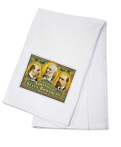 Cameo Towel - Adam Forepaugh and Sells Brothers (3 cameos) Vintage Poster USA c. 1900 (100% Cotton Kitchen Towel)