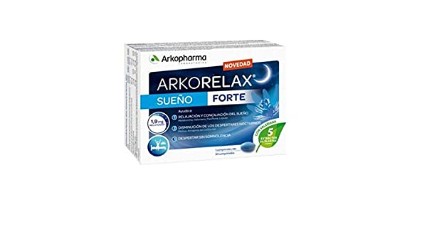 ARCOFARMA ARCORELAX SUEÑO FORTE + MELATONINA 30 COMPRIMIDOS: Amazon.es: Salud y cuidado personal