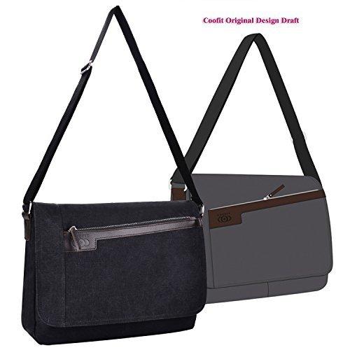Messenger Bag, whobabe Hombres de hombro bolsa de mensajero bolsa de lona Crossbody Bolsas De Hombro Bolsa de ordenador portátil