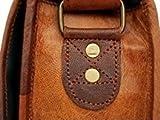 16 inch Genuine Leather Messenger Bag - Crossbody