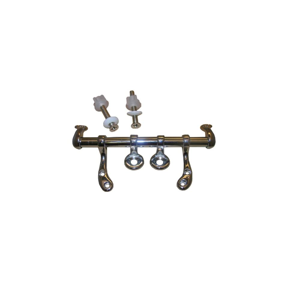 LASCO 14 1051 Toilet Seat Hinge with Bolts and Nuts Fit Most, Chrome Plated Metal