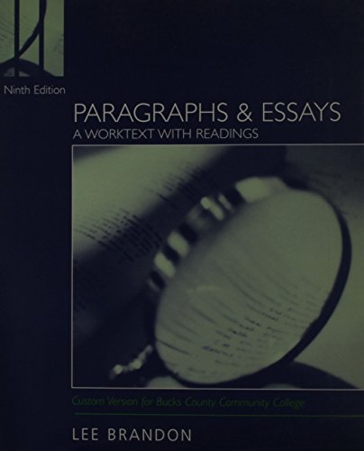 Paragraphs and Essays, Custom Publication