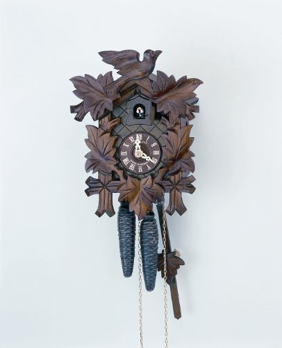Schneider 12-Inch Five Leaves and One Bird Black Forest 30-Hour Cuckoo Clock