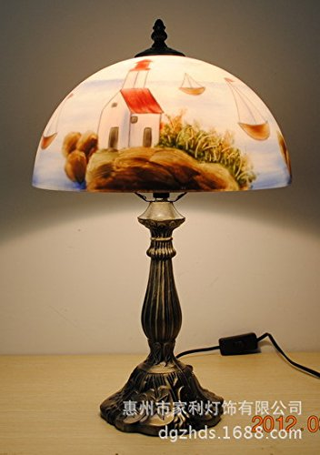 Handgemalte Ölgemälde kinder lampe Schlafzimmer Bett Bett Lampen dekoriert Studie