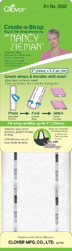 Nancy Zieman Bag - Clover Create-A-Strap with Nancy Zieman, 1-Inch by 2.2 Yds.
