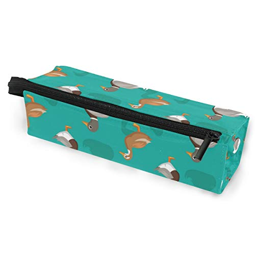 Hunting Duck Cartoon Sunglasses Soft Case Zipper Eyeglass Case Storage Stationery Box
