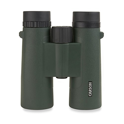 Carson JR Series 10x42mm Full Sized Waterproof Binoculars for Bird Watching, Hunting, Sight-Seeing, Surveillance, Concerts, Sporting Events, Safaris, Camping, Travel and Outdoor Adventures
