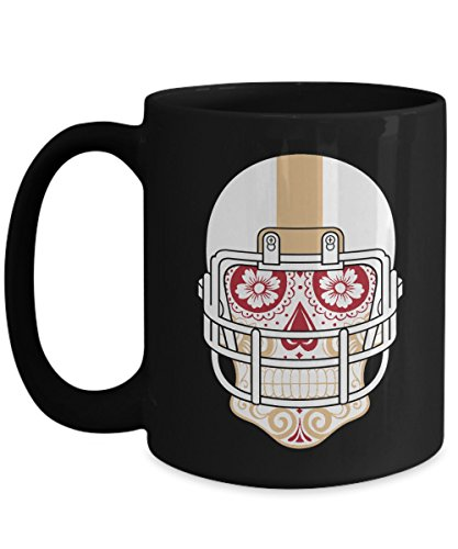 Sugar 49ers San Francisco - San Francisco Mug - San Francisco Sugar Skull Hometown Pride Football Ceramic Coffee Mug