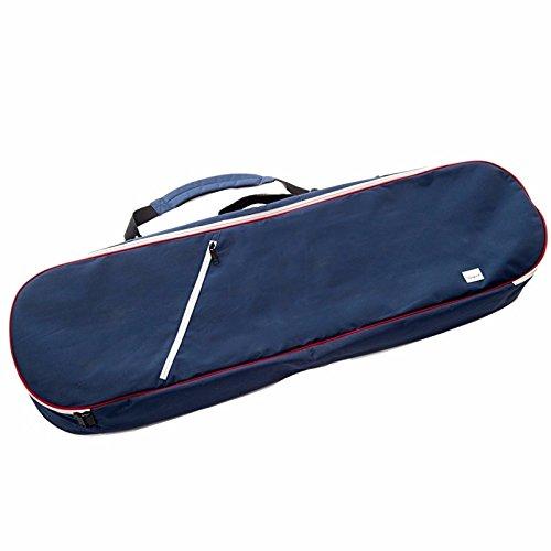 betonten Board lang, gepolsterter anthrazit Tasche 2x ZipUp Taschen und Hand und Schultergurt