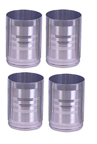 Dynore Round Shape Drinking Glass Set of 4