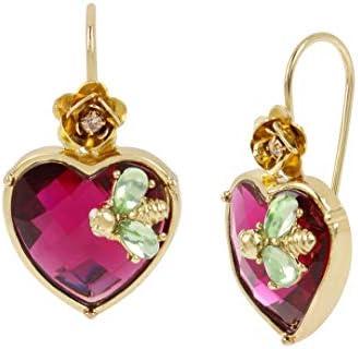 Betsey Johnson Stone Heart Drop Earrings