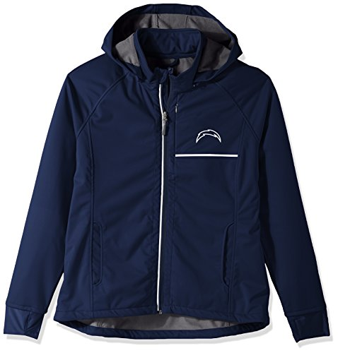 Womens Diego Chargers San (GIII For Her NFL San Diego Chargers Adult Women Cut Back Soft Shell Jacket, Large, Navy)