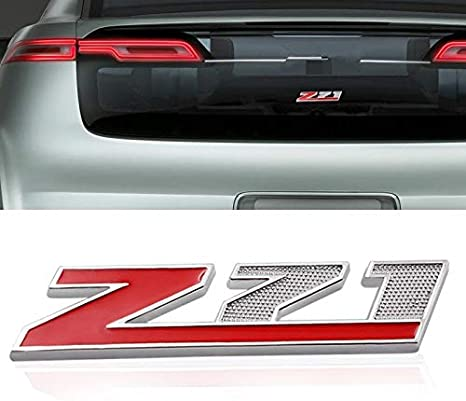 2Pack silver Red Grille Z71 Emblem Decal for GM Chevy Silverado Colorado GMC Sierra Tahoe Suburban