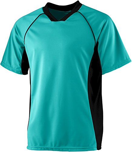 Wholesale Kids Soccer Jersey (Augusta Sportswear BOYS' WICKING SOCCER SHIRT L Teal/Black)