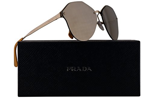 Prada PR64TS Sunglasses Pale Gold w/Gold Brown Gradient Mirror 66mm Lens ZVN1C0 SPR64T PR 64TS SPR - Www Com Sunglasses Prada