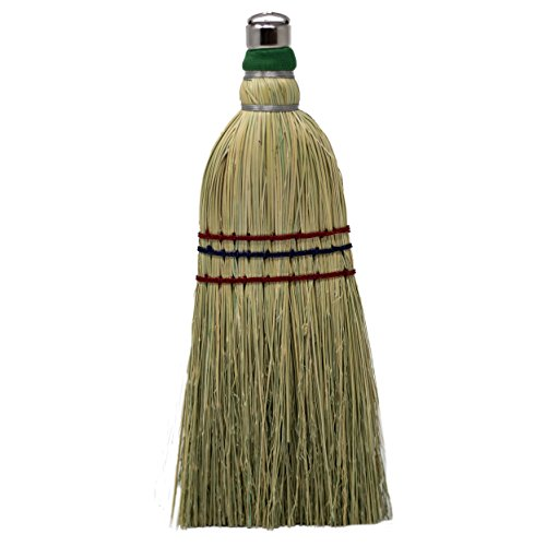 - Authentic Hand Made All Broomcorn Broom (12-Inch/Whisk)