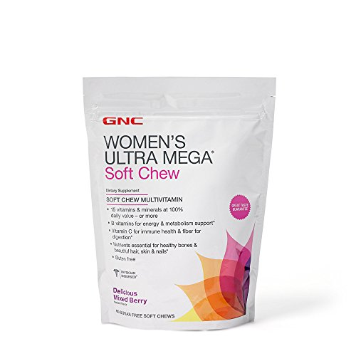 GNC Womens Ultra Mega Soft Chew Multivitamin – Mixed Berry – 60 Count Review