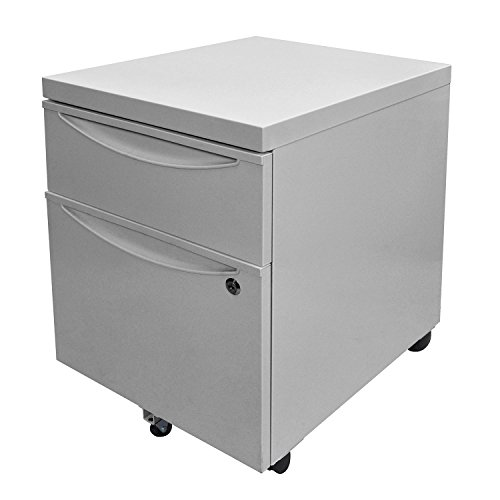 Offex - Archivador de pedestal con cajón de bloqueo, color gris (OF-KDPEDESTAL-GY)