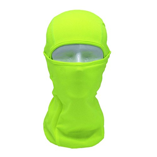 Exteren Camouflage Windproof Full Face Mask Motorcycle Neck Warmer Tactical Balaclava Hood for Men Cycling Hat Outdoors Sport Helmet (Green)