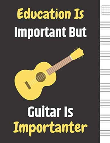 - Education Is Important But Guitar Is Importanter: Blank Sheet Music For Guitar, Music Manuscript Paper, 6 String Chord, Staff and Title Music Paper ... Teachers and Students (100 Pages 8.5 x 11 )