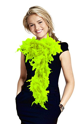 (6' Adult Feather Boa (Lime)