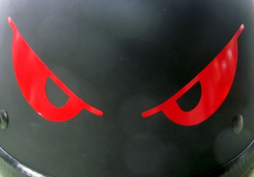 Reflective Evil Eyes in Red - 5 3/4