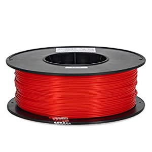 Inland 1.75mm Red PLA 3D Printer Filament - 1kg Spool (2.2 lbs) from INLAND