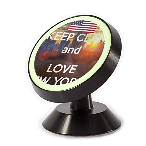 Magnetic Car Phone Holder Love New York 360 Degree Rotating Stand Grip Mount for iPhone X / 8/8 Plus 7/7 Plus / 6s / 6 / Galaxy S8 / S7 (York Electronic New Puzzle)