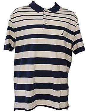 Men's Striped Polo Shirt Size Large