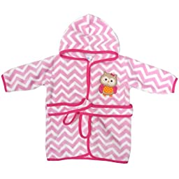 Neat Solutions Applique Print Coral Fleece Bath Robe, Owl