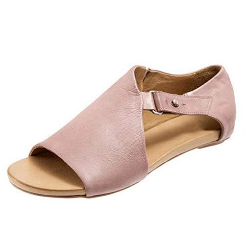 pretty-gentle52654 Women Sandals Flip Flops Flats Summer Fashion Wedges Shoes Woman Slide Sandal,Pink,11,China]()