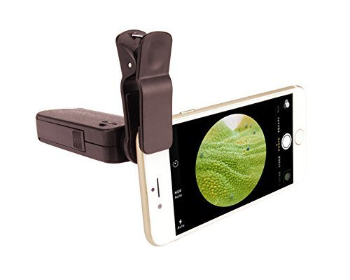 100X Optical Zoom Microscope XFox Mobile Phone Microscope with Bright LED Lamp and Universal Clamp for iPhone6/6plus/5c/5s/4/4s Samsung Galaxy S6/S5/S4/Note 4/3/2 etc.
