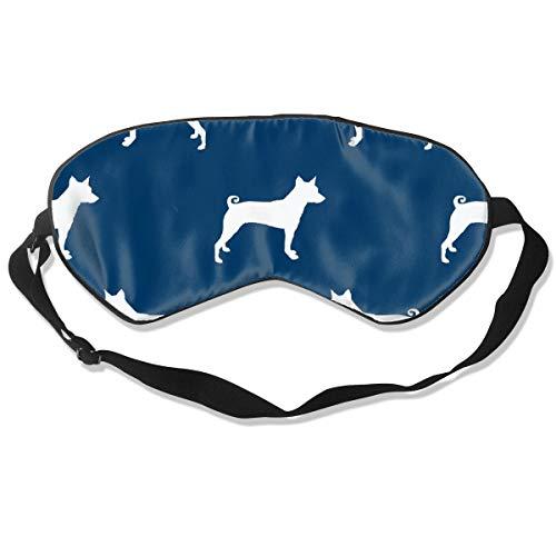 (Basenji Silhouette Dog Navy 100% Silk Sleep Mask Comfortable Non-Toxic, Odorless and Harmless,Soft Blindfold Eye Mask Good for Travel and)