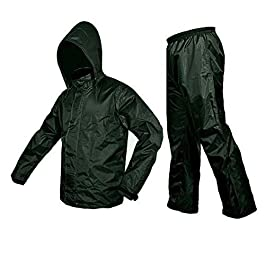 DELHI TRADERSS Unisex Bike/Scooter Water Proof Plain Rain Coat with Carry Bag (Green)