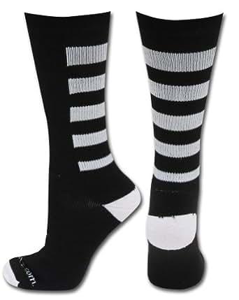 Sports Katz Midfield Crew Sock Black/White SM