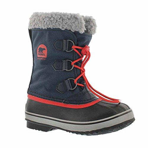 Sorel Girls' Yoot Pac Nylon Waterproof Winter Boot Navy 3 M US (Boots Pac Winter Yoot)