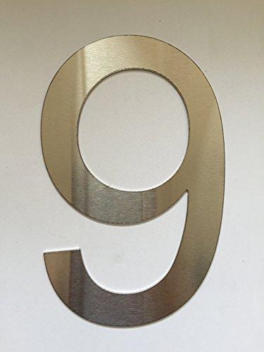 Número Casa / Números y abc numeral cepillado Acero inoxidable (9)