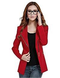Rebecca Lujan Women's One Button Long Sleeve Short Suit Blazer