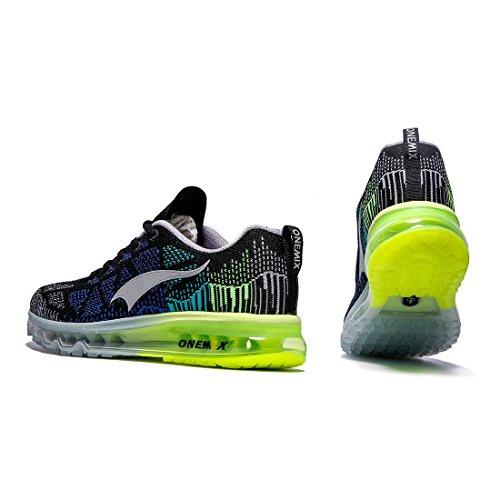 Schwarz Luftpolster Sneaker Straßenlaufschuhe Onemix Herren Laufschuhe Sportschuhe mit Air Grün Grau Fitness gwfwX0xzq
