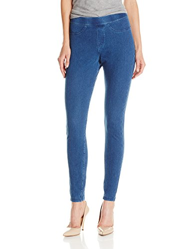 Hue Women's Curvy Fit Jeans Leggings, Medium Wash, Large