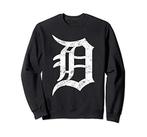 Detroit Long Sweatshirt Graphic D Motor City Pullover