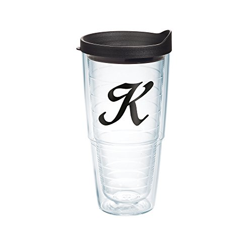 Tervis Black Scroll Letter K Boxed Mug with - Tumbler With Letter K