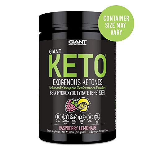 Giant Keto-Exogenous Ketones Supplement - Beta-Hydroxybutyrate Keto Powder Designed to Support Your Ketogenic Diet, Boost Energy and Burn Fat in Ketosis - Raspberry Lemonade - 15 Servings …