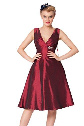 Sexyher-Ladies-1950s-Vintage-Style-Deep-V-Neck-Classic-Dress-RBJW1424Burgundy