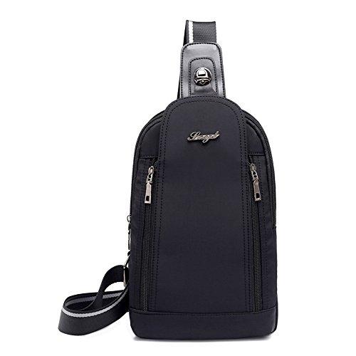 Daypack Sling zaino casuale per Borse a Borsa tracolla donne Bag che viaggiano Crossbody Sport Escursionismo Nero turistica Uomini Busto Fpxpqg5r